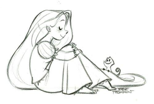 Rapunzel doodle by Steve Thompson