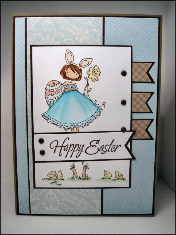 Stamping Bella BUNNY AND HER DAFFODIL Uptown Girls