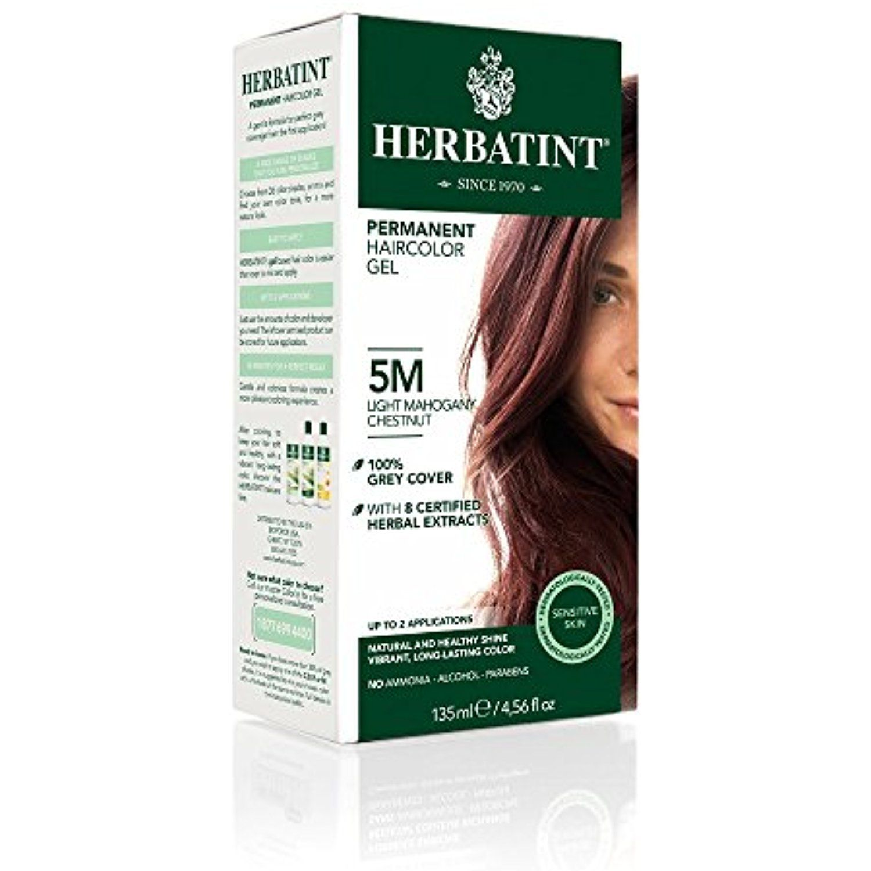 Herbatint Permanent Haircolor Gel 5m Light Mahogany Chestnut 1 Box