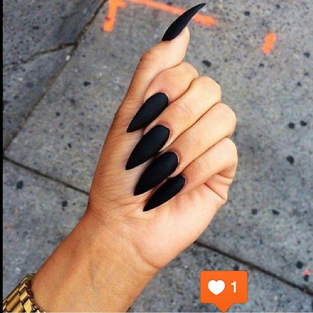 Love these matte finish black nails