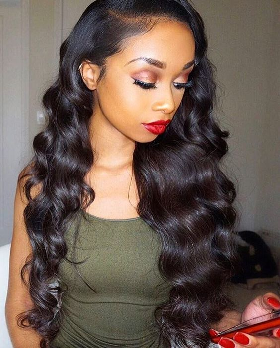 Follow my pinterest vickileandro makeup pinterest hair unprocessed virgin natural brazilian deep wave lace front wigs glueless human full lace wig with baby hair for black women pmusecretfo Images
