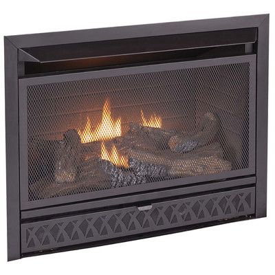kozyworld dual fuel firebox and log combo vent free gas fireplace rh pinterest com