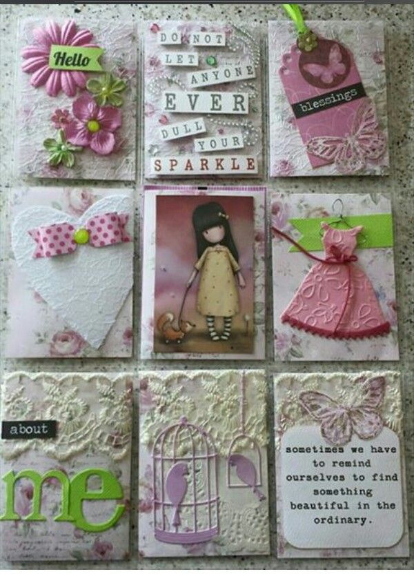 Pocket Letter... Love the heart with bow and the dress. Cool lettering in the about me pocket! Wonderful pocket letter!