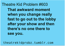 Or you can't find them, so you run back to the dressing room to grab your phone and text/call them to find out where they are.