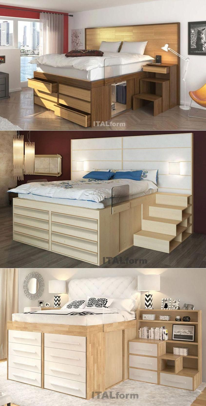 Impero Storage Beds From Italform Design Space Saving Bedroom