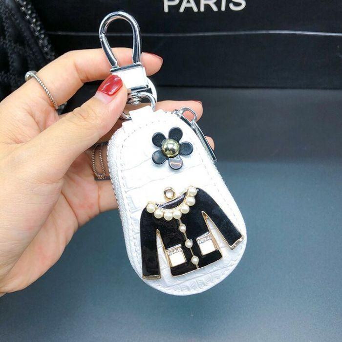 Photo of Real Leather Fashion Key Pouch – White