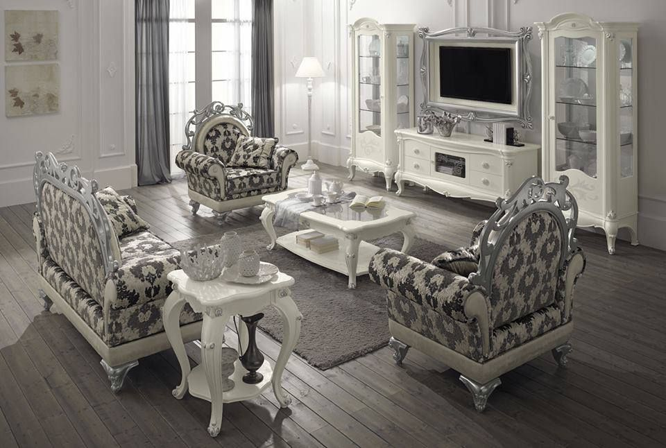 Modern White And Silver Victorian Living Room Victorian Living Room House Design Design