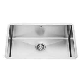 Vigo 30 0 In X 19 0 In Premium Satin Single Basin Basin Stainless