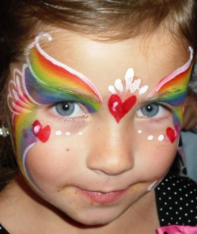 Rainbow Facepaint Face Painting Ideas And Resources Princess