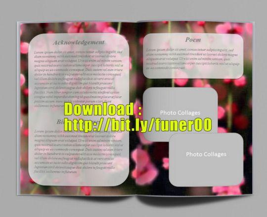 Begräbnis-Service-Programm Vorlage für Microsoft Word Zum Download ...