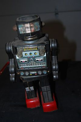 1960's Horikawa Tin Robot - walks and shoots from its chest. My little brother had this one.