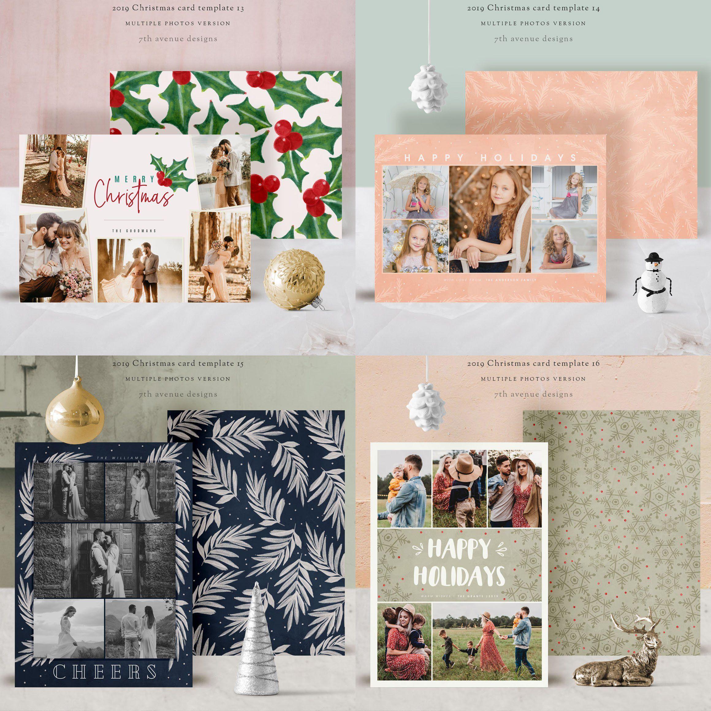 christmas card multiple photos | christmas card template