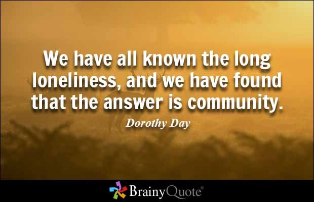 Community Quotes Search Results  Loneliness Happiness And Wisdom