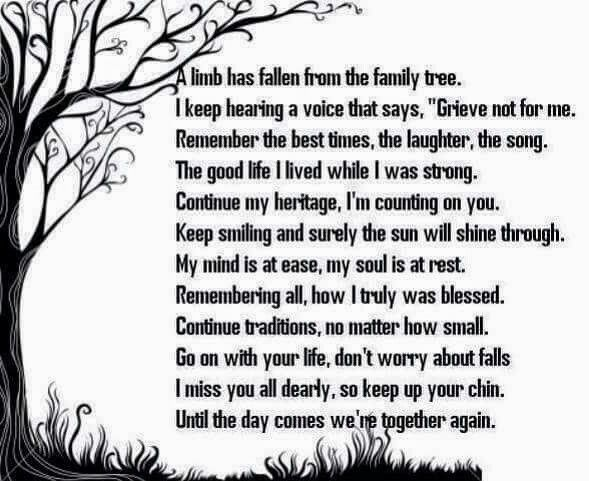 In memory, a limb has fallen from the family tree....