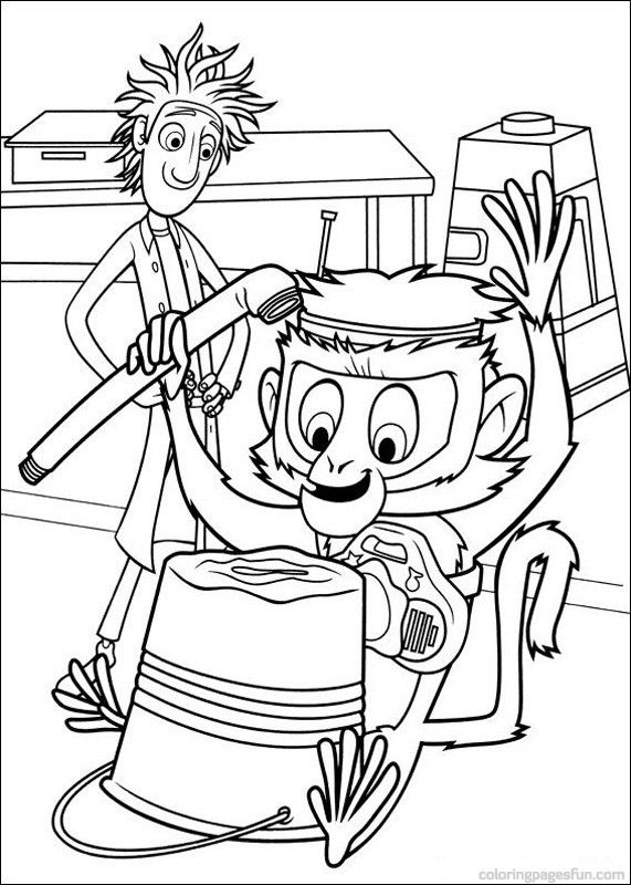 Cloudy With A Chance Of Meatballs Coloring Pages 16