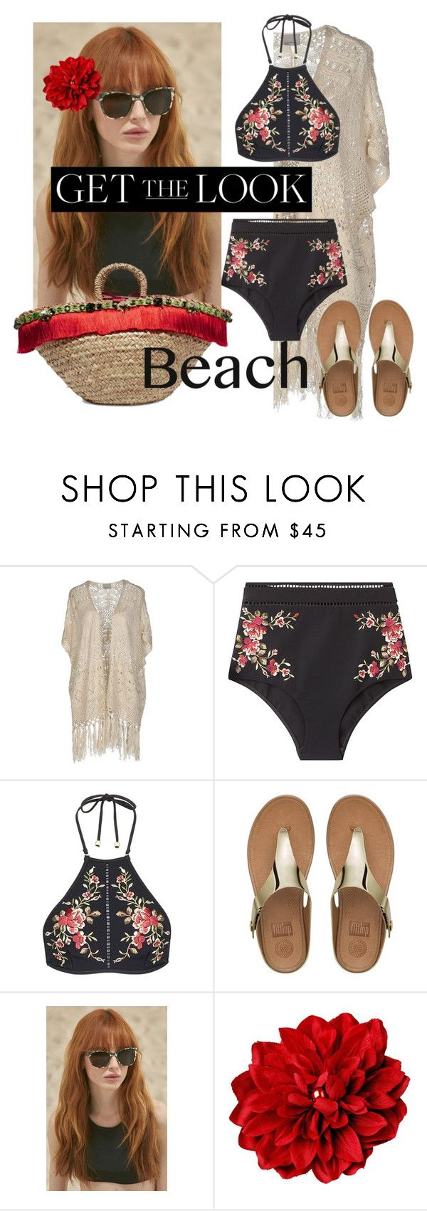 """""""#beach#"""" by libigonglica ❤ liked on Polyvore featuring Vero Moda, Zimmermann, FitFlop, Prism, Dolce&Gabbana, GetTheLook and Swimsuits"""