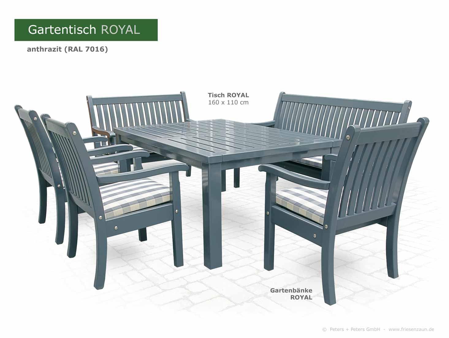 Gartentisch Royal Lackiert Gartentisch Aussenmobel Gartenmobel