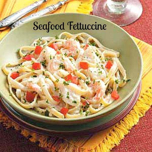Homemade Shrimp Fettuccine Alfredo - so light and delicious.