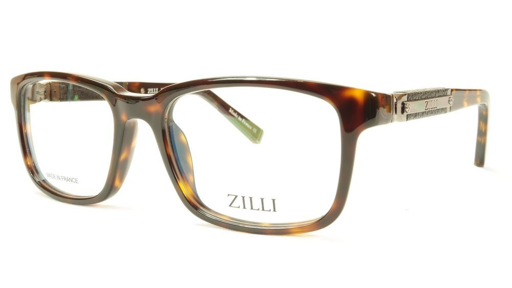 69d31fe0c5e ZILLI Eyeglasses Frame Acetate Leather Titanium France Hand Made ZI 60004  C02