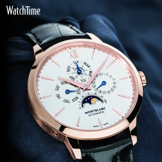 """""""To commemorate the pen's 90th birthday, @Montblanc has introduced a family of four new watches, the Meisterstück Heritage Collection. Among them is the…"""""""