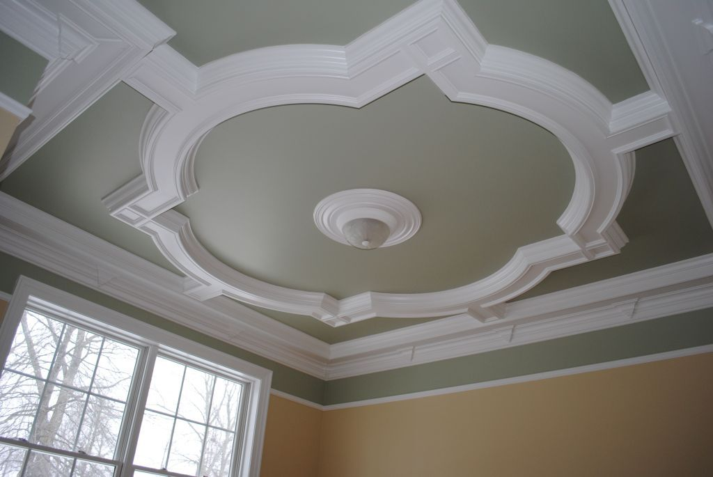 Quatrefoil coffered ceiling design part two for Coffered ceiling styles