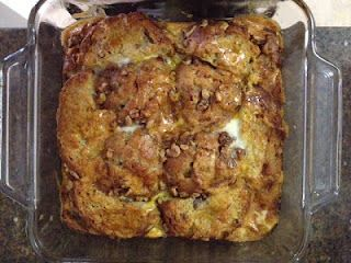 """Breakfast Muffin French Toast Bake:: Easy way to make a """"special"""" breakfast out of leftover muffins!"""