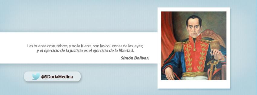 Frase de Simón Bolívar…   ¡Comentemos!