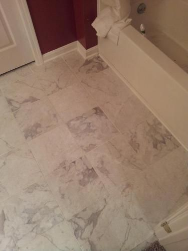 Trafficmaster Premium 12 In X Carrara Marble Vinyl Tile 30 Sq Ft Case 6513 At The Home Depot Mobile