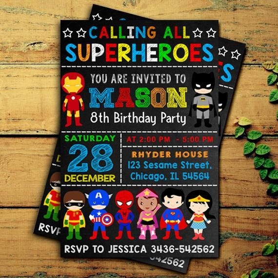 superhero invitation superhero birthday invitation superhero