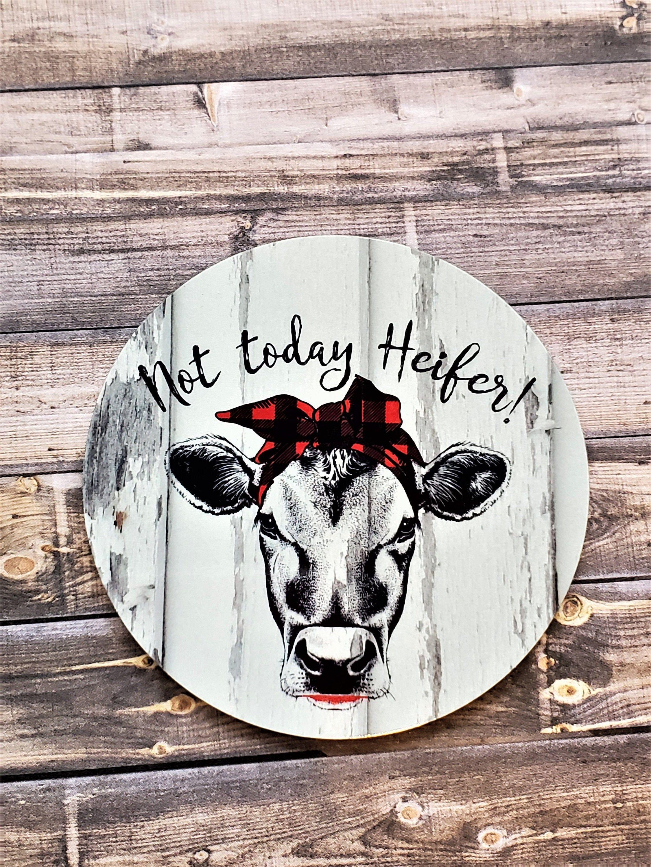 Fridge Magnets Not Today Heifer Cute Cow Bandana Buffalo Etsy In 2020 Cow Decor Cow Kitchen Decor Cute Cows