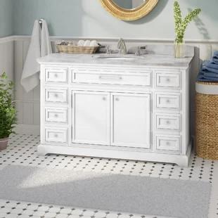 Find The Perfect 48 Inch White Single Vanities Wayfair In 2020 Single Sink Bathroom Vanity Bathroom Sink Vanity Single Bathroom Vanity