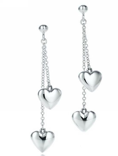 Tiffany Double Drop Hearts Earring