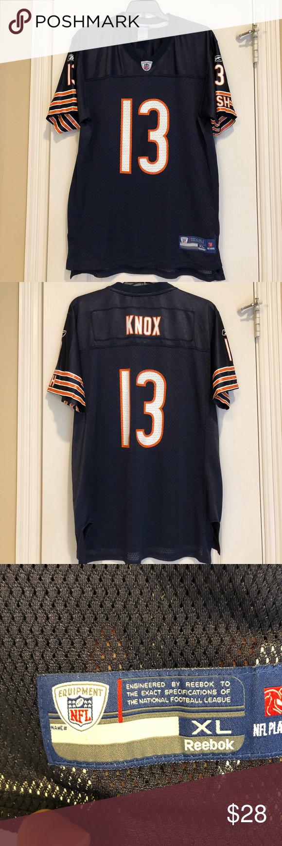 Reebok Nfl Chicago Bears Jersey Knox Reebok Chicago Bears 13 Johnny Knox Replica Nfl Football Jersey By Reebok Chicago Bears Jersey Nfl Chicago Bears Reebok