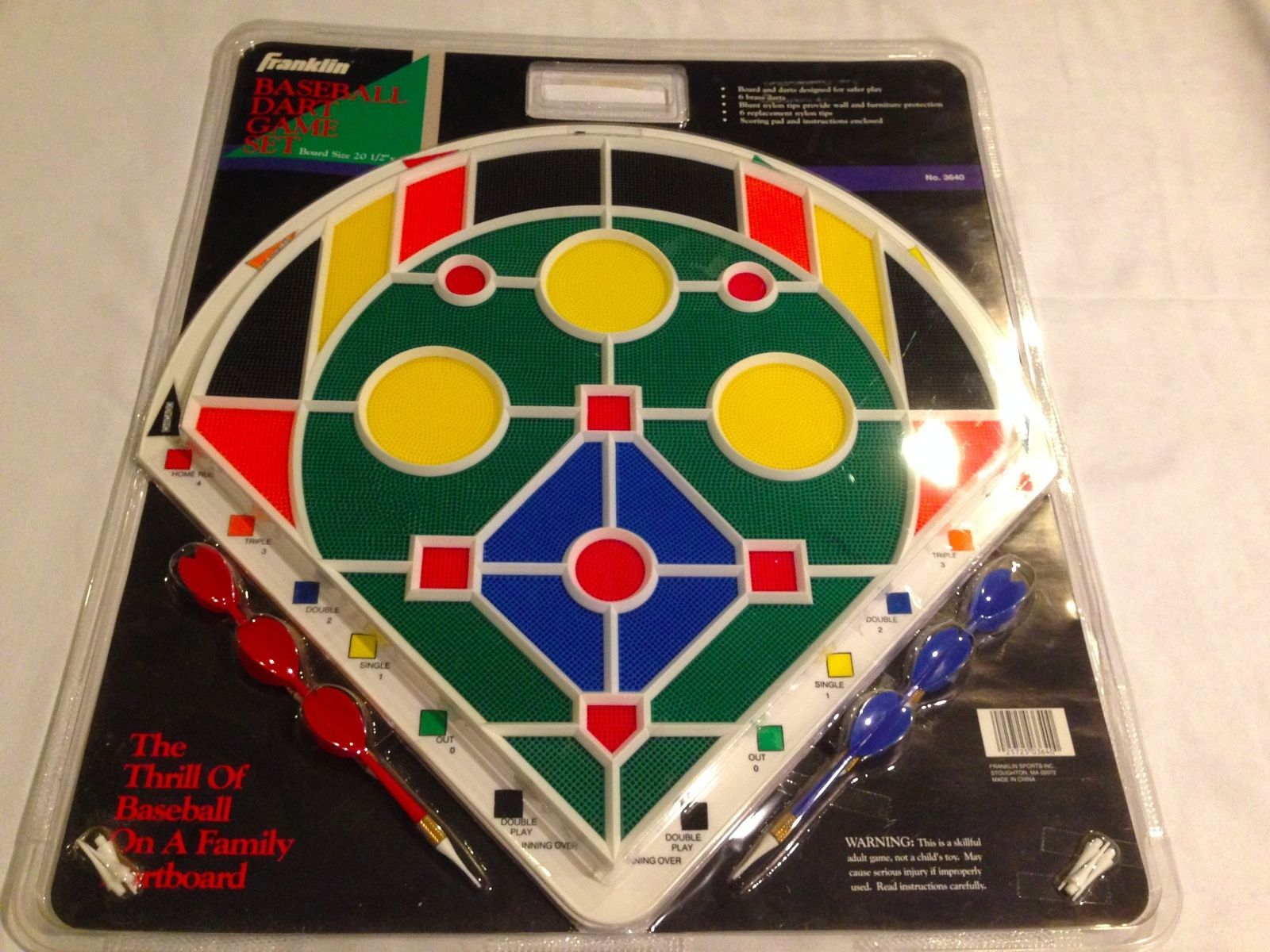 Brand New Vintage Franklin Baseball Dart Board Game With Darts