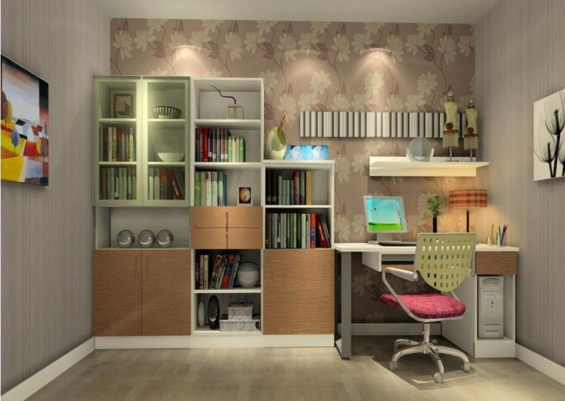 Inspiring study room ideas images with bedroom with study for Den study design ideas
