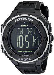 59dcdf5e1 Timex Expedition Shock Xl Vibrating Digital Dial Black Resin Mens Watch  T49950