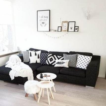 Super living room decor black couch loft 27+ Ideas images