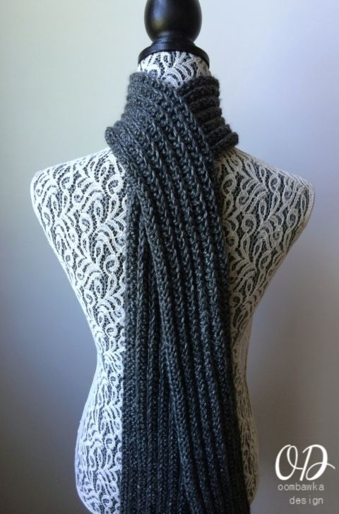 Just For Him Classic Ribbed Scarf Free pattern | Cozy crafts ...