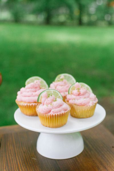 Strawberry Margarita Cupcakes: http://www.stylemepretty.com/living/2015/05/02/12-mexican-inspired-desserts-perfect-for-cinco-de-mayo/