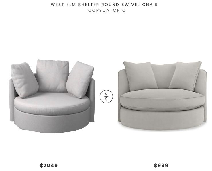 West Elm Shelter Round Swivel Chair 2049 Vs Room Board Eos Swivel Chair 999 Circle Swivel Chai Round Swivel Chair Swivel Chair Home Depot Adirondack Chairs #round #swivel #chairs #living #room