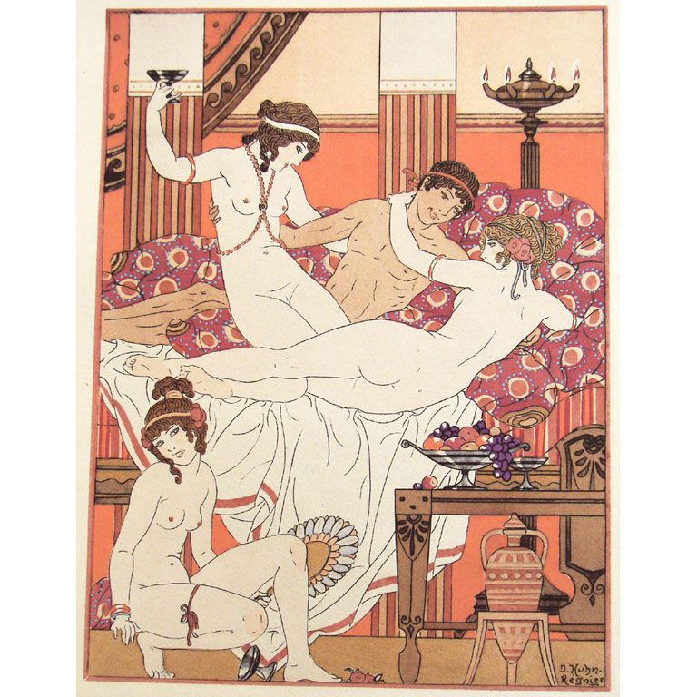Antique erotic art french kuhn