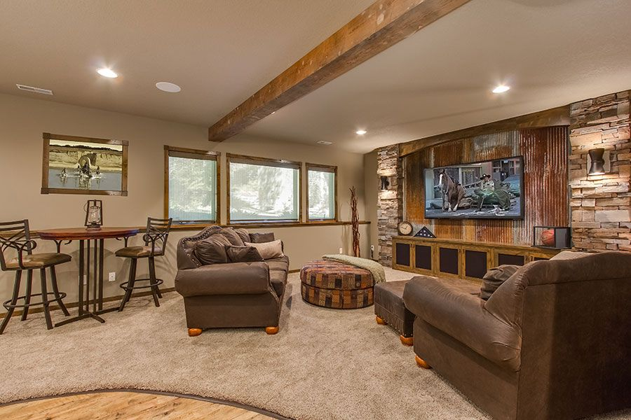 15 Outstanding Rustic Basement Design THE TIN