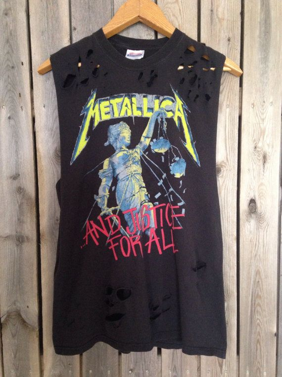 d57c1a7e76d3d Metallica And Justice For All cut and distressed tank top size Large ...