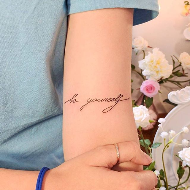 Be yourself ♥ #tattoo #smalltattoos #littletattoos #tattoos #beyourself #beyourselftattoo