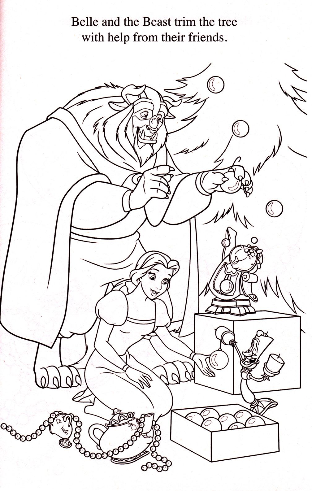 Princess Belle Christmas Coloring Pages You'll Love