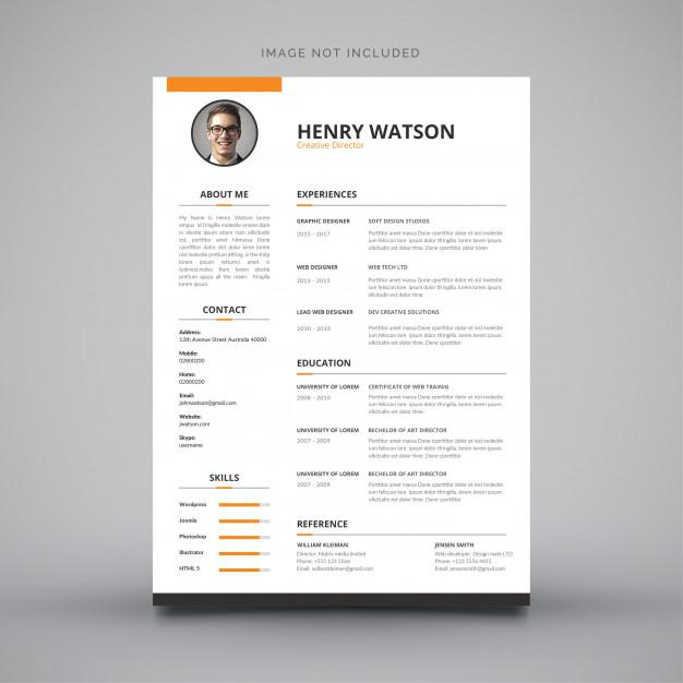 Download Curriculum Vitae Design for free Resume design