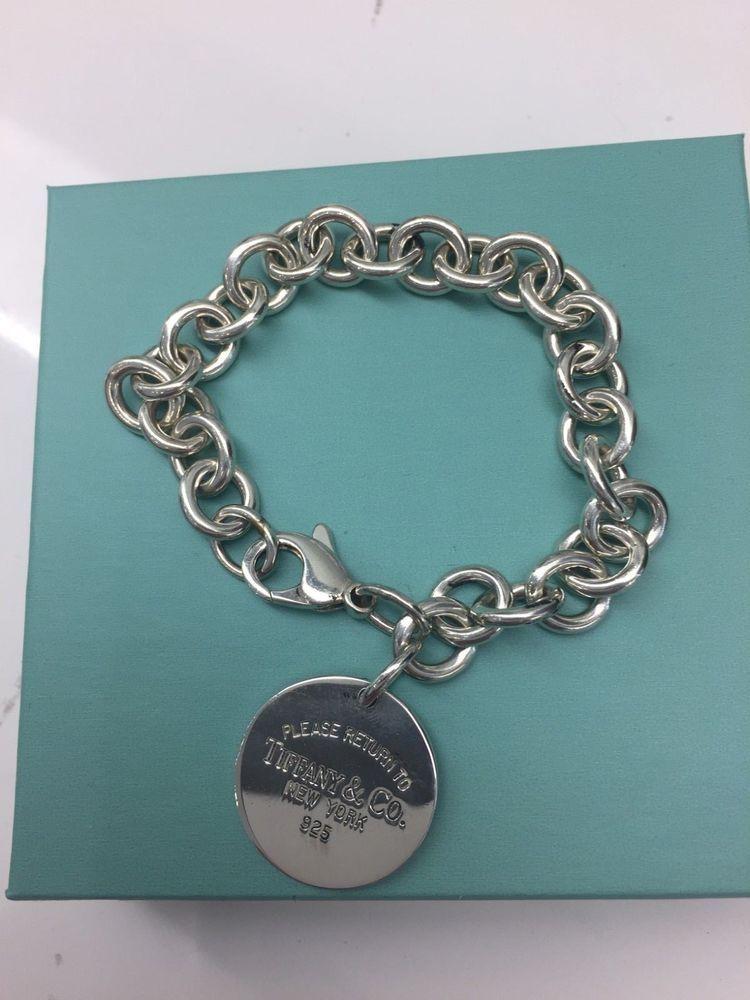 02f6724eb Tiffany Sterling Silver Bracelet…@ebay @pinterest #ebay #Pinterest #amazon  #gemstonebracelet #fashion #costumejewelry #bracelet #charm