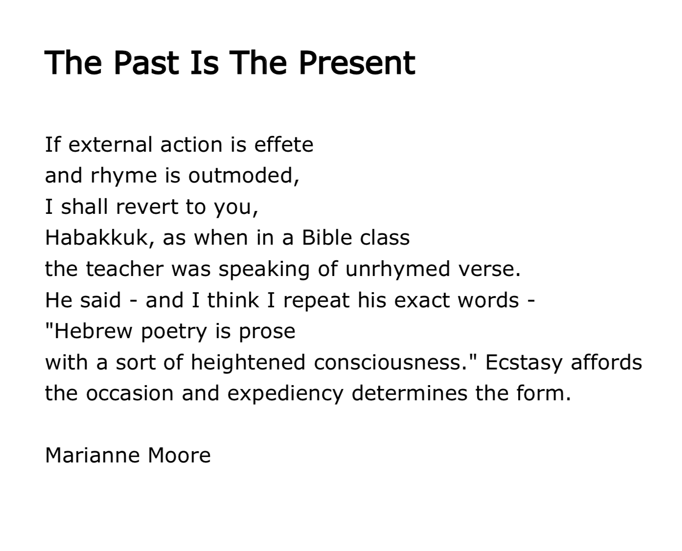 Marianne Moore Poems 1