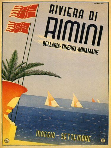 Riviera Di Rimini Poster Vintage Foto Poster