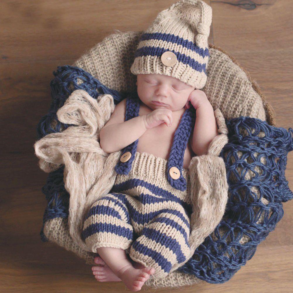 Neugeborenes Baby Foto Kostüm Säugling Häkelarbeit Kostüm Anzug ...
